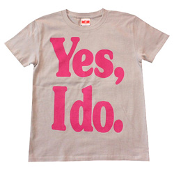 Yes or No ロゴTシャツ(ライトグレー)